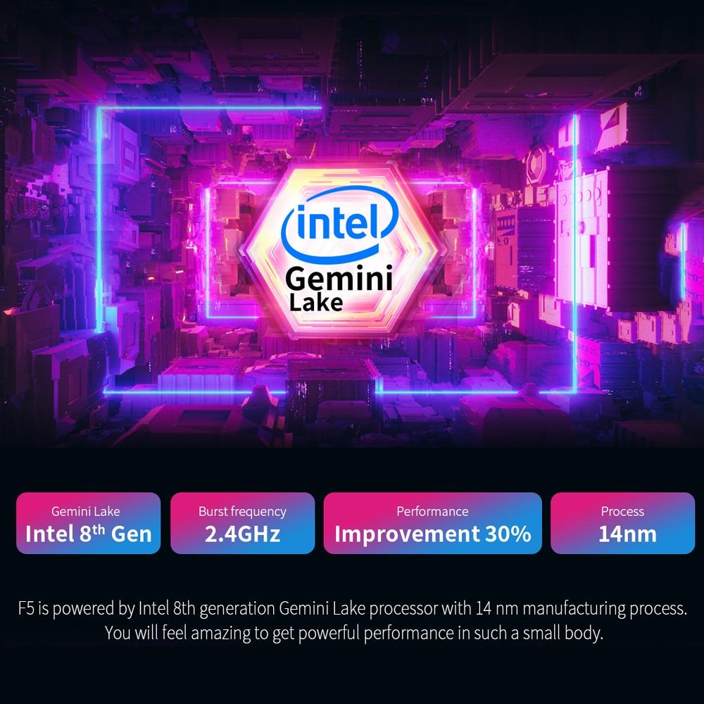 "Teclast F5 laptop Windows10 Notebook 11.6"" 8GB RAM 256GB SSD Intel Celeron N4100 IPS Touch Screen 360° Rotating 1920*1080 Type-C-4"
