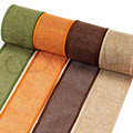 3m/roll 60mm Width Colorful Burlap Wired Ribbon Rolls ,DIY Christmas Material Wedding Party Crafts Decoration YJ289