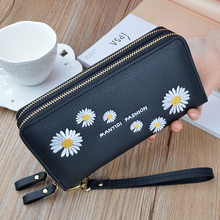 Flower wristband ladies long clutch bag large-capacity wallet female coin purse ladies coin purse mobile pocket card case Catlas