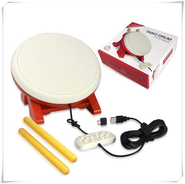 For Taiko Drum Compatible for Nintend Switch Taiko Drum with Drumstick Set Drum Controller Video Games Accessories For NS Switch
