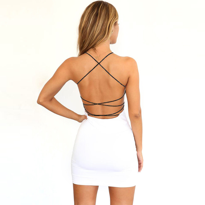 Summer New Python-patterned <font><b>Sexy</b></font> <font><b>Women</b></font> White <font><b>Dress</b></font> Backless Bodycon <font><b>Dresses</b></font> <font><b>Women</b></font> Party Night Wrap Hip Low Chest <font><b>Dress</b></font> Clothes image