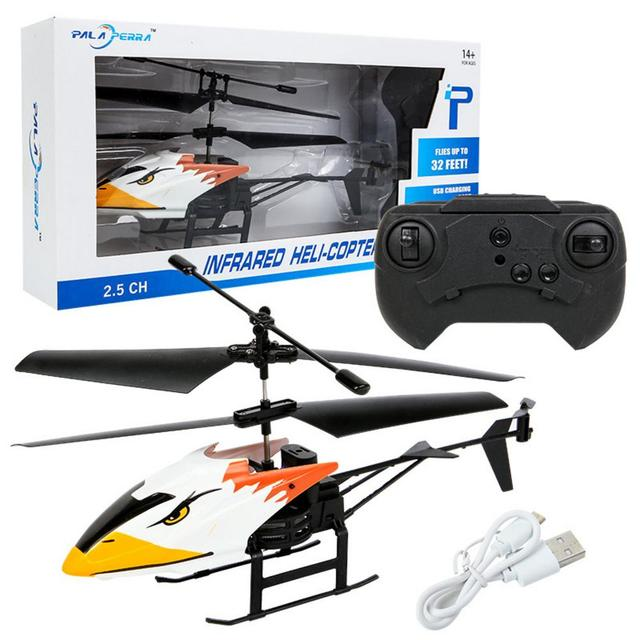 Remote Control Helicopter 2 Channel Electronic Radio RC Aircraft Quadcopter Small Helicopters Kids Toys
