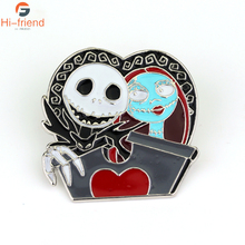 The Nightmare Before Christmas Brooches New Design Vintage Skull for Women High Quality Fashion Enamel Pin