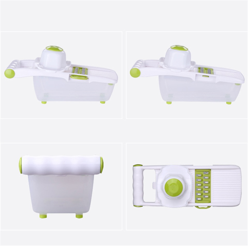 Mandoline Slicer and Vegetable Cutter With 8 Pieces Stainless Steel Blade Used as Kitchen Tool 5