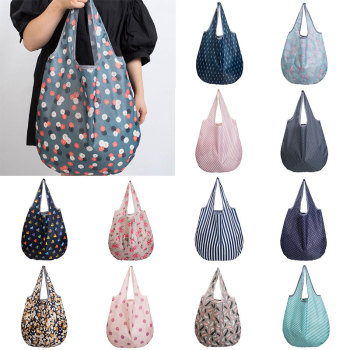 Multi-function Flower Reusable Grocery Bags Washable Foldable Shopping Tote Bags Sturdy Lightweight Eco Friendly Shoulder Bag large shopping bag waterproof lightweight reusable grocery bags washable foldable shopping tote bags eco friendly shoulder bag