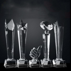 Crystal trophy custom made cup as a prize crystal award sports movie award dropshipping crystal customi built home decoration