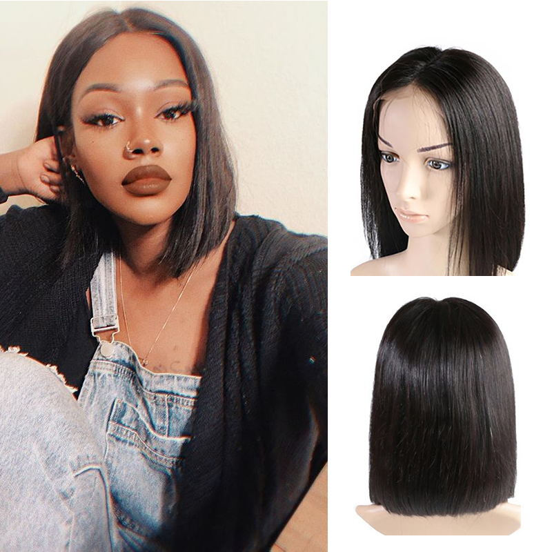 Bob Lace Front Wigs 13X4 Human Hair Wigs 613/Red/Blue/Black/Purple/Pink/Yellow Ombre Short Bob Wigs Human Hair Wigs
