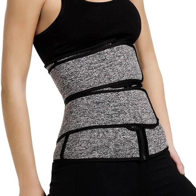 Neoprene Shaper Waist Trainer Double Waist Corset Sweat Slimming Belt for Women Weight Loss Compression Trimmer Workout Fitness 3