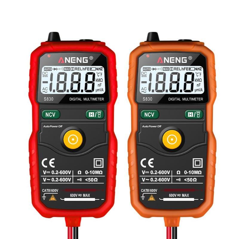 S830 Digital Multimeter Smart Multimeter Measuring DC/AC Voltage Meter Resistance With LCD Display Power Meter Tester