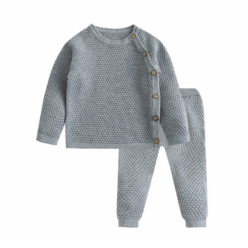 Baby Boy Girl Clothes Sets Spring Autumn Newborn Baby Girl Clothing Christmas Tops + Pant Outfits Baby Knit Sweater Baby Pajamas 3