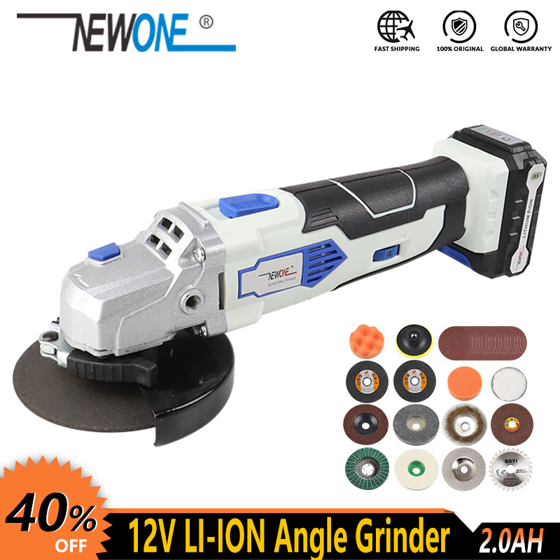12V NEWONE  Angle Grinder Ideal For DIY Light-duty Grinding Or Cutting With Quick Change System Including One Battery