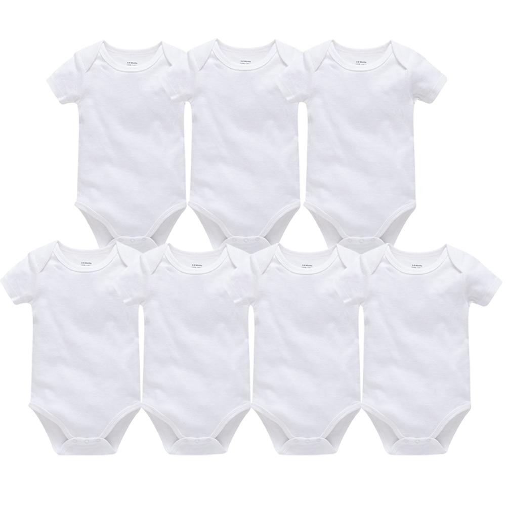 2020 White Black Baby Clothes Body Bebes 100% Cotton Short Sleeve Newborn Bodysuit Boy Girl Clothing Infant Toddler Jumpsuit