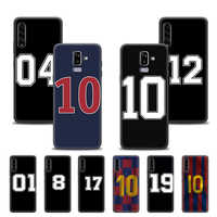 Case for Samsung Galaxy A905G A51 A71 A10 A20 A20s A20e A10e A10s A50 A6 A7 A8 A9 Plus 2018 Back Shell Number Football