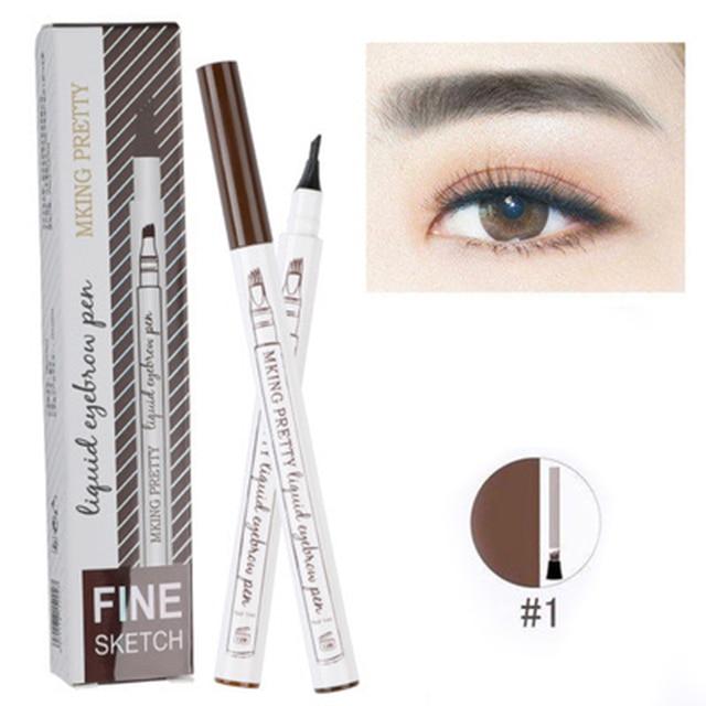 Four Headed Eyebrow Pencil Enhancer Makeup Liquid Growth Serum Pencil Growth Professional Long Lasting Smooth Waterproof TSLM2 2