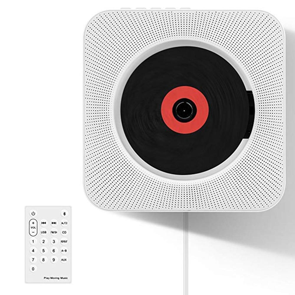 Lecteur CD mural haut-parleur Bluetooth Portable lecteur de musique sans fil Fm Radio lecteur éducatif Audio domestique avec câble USB