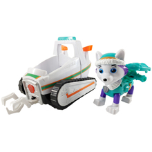 лучшая цена New Paw Patrol Dog Everest Puppy Pull Back  Patrol Car Patrulla Canina Toys model PVC child Action Figure  Toy Kid birthday Gift