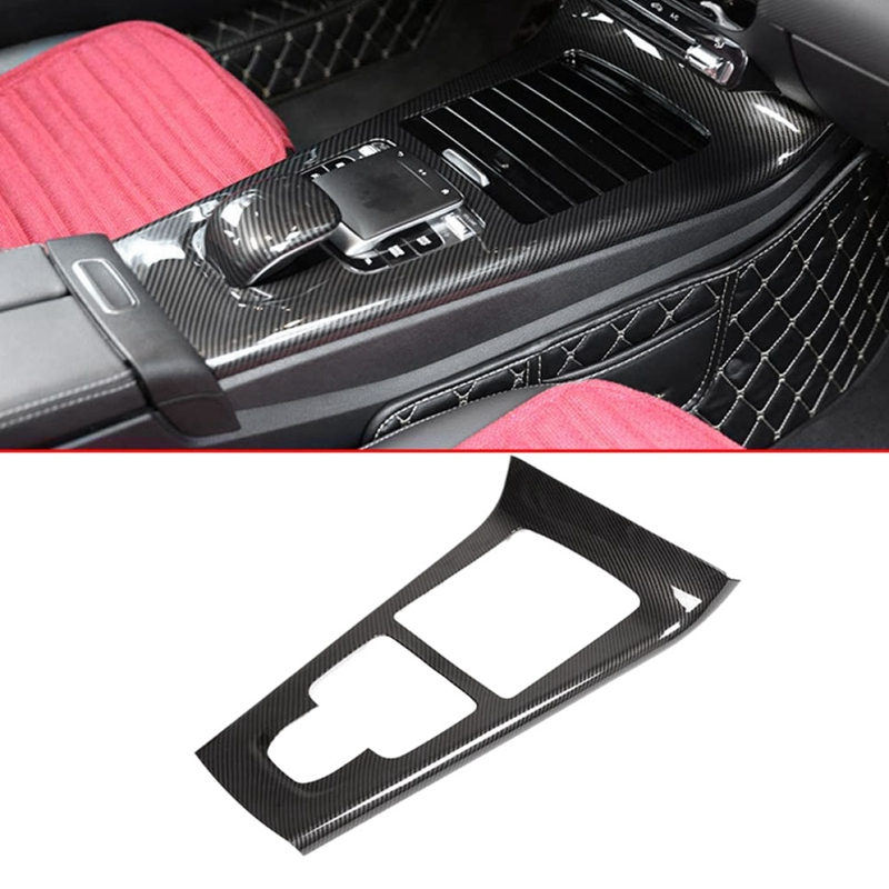 Carbon Fiber Center Console Protection Frame Trim Cover for Mercedes Benz A Class W177 2019 Car Accessories