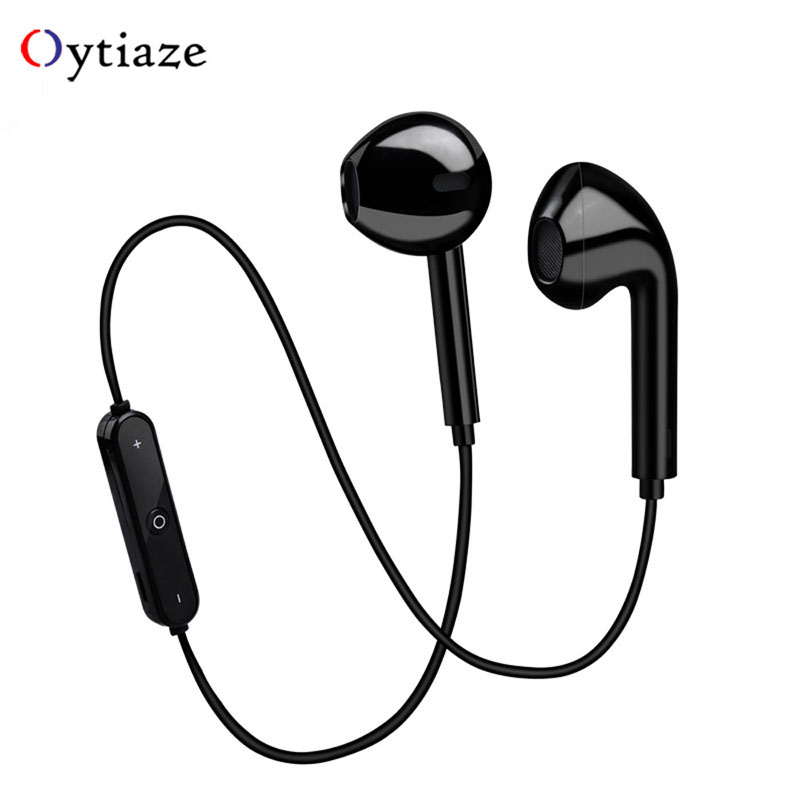 <font><b>S6</b></font> Neckband <font><b>Wireless</b></font> <font><b>Bluetooth</b></font> Earphone Sport headset with Microphone For iPhone 7 8 X samsung huawei android image