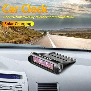 Image 3 - รถออโต้ดิจิตอลนาฬิกา รถอุณหภูมิดูพลังงานแสงอาทิตย์LCD TPMSวันที่สำหรับกลางแจ้งอะไหล่รถส่วนตัวอุปกรณ์เสริม