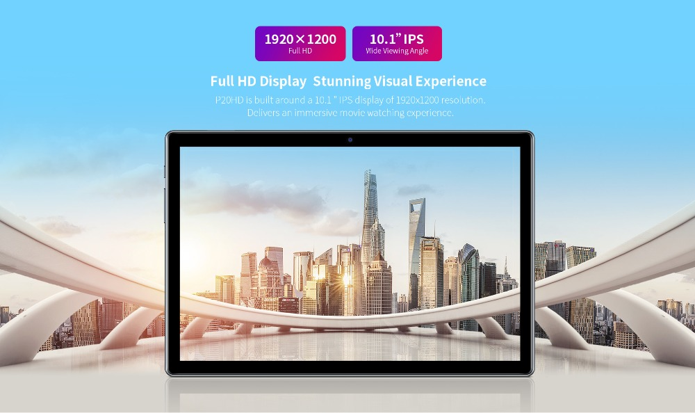 Teclast P20HD 4G Phone Call Tablets Octa Core 10.1 inch IPS 1920×1200 4GB RAM 64GB ROM SC9863A GPS Android 10  tablet PC