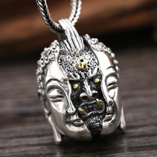 925 Sterling Silver Buddha Devil In a moment Men Women Necklace Pendants Jewelry in this moment in this moment ritual lp