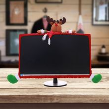 Christmas Computer Laptop LCD Screen Monitor Cover Protector Decor for 19-27in