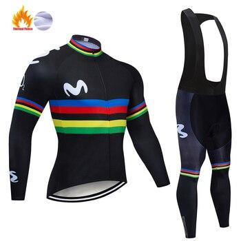 Conjunto de Ropa térmica de lana para Ciclismo, conjunto de Jersey y...