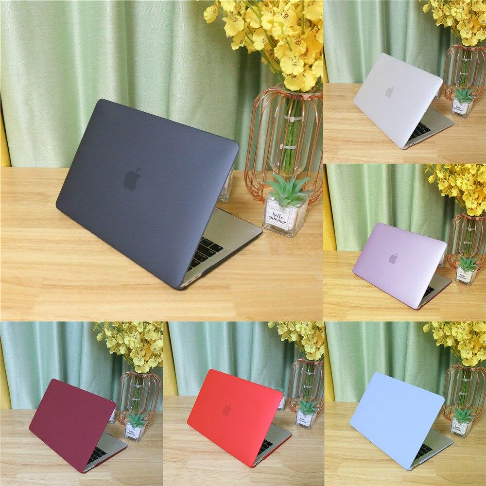 Capa fosca para apple macbook, retina air 11 12 13 15 novo air 13 a2179 capa para novo pro 13 15 16 polegadas a2141 com barra de toque a2159