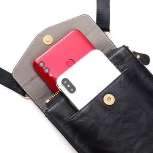 """Image 3 - FULAIKATE 7.2 """"universel sac de téléphone pour Huawei Mate 20X rétro pochette dépaule pour Xiao mi mi Max 3 grande taille sac de taille pour iPhone"""