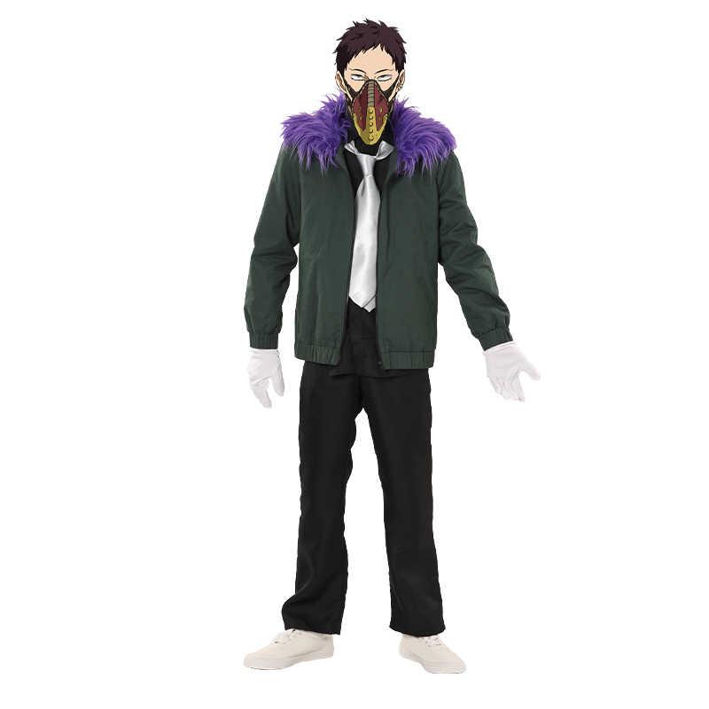 Anime Boku hiçbir kahraman Academia revizyon Chisaki Kai Cosplay kostüm My Hero Academia erkek kadın ceket peruk cadılar bayramı partisi üniforma