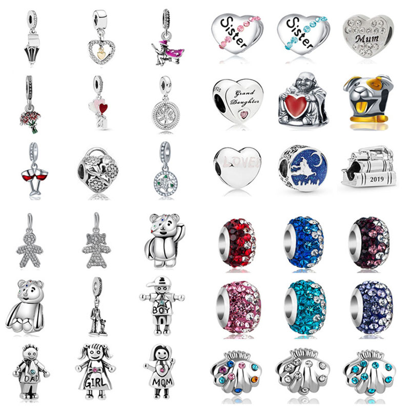 Diy Bead Bracelet Charms Graduation-Cap Magic-Carpet ALADDIN Sister Original Pandora