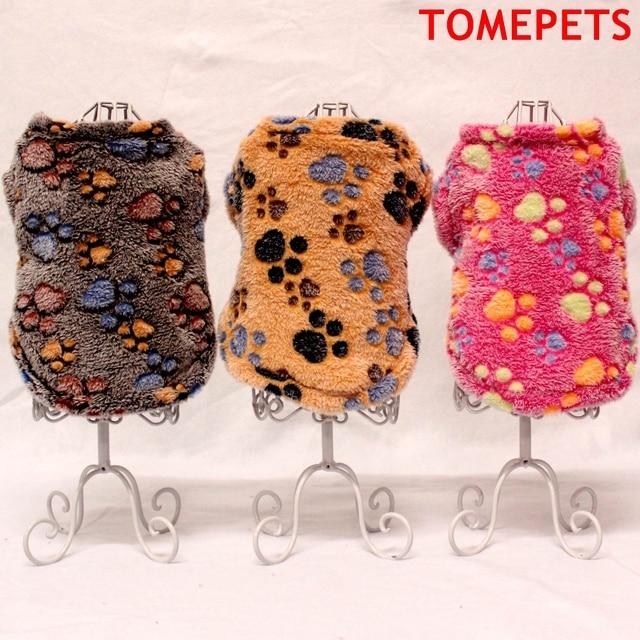TOMEPETS vêtements pour animaux de compagnie chien pyjama cutie chien gilet avec des motifs de patte-imprime en couleur rose/marron/café