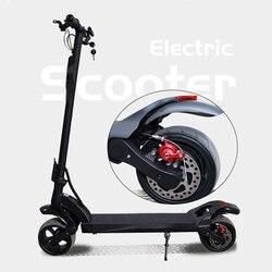 1600W Power skuter z silnikiem elektrycznym kolorowy wyświetlacz OLED Trotinette Electrique Adulte E skuter nowy 8.5 calowy gruby deskorolka
