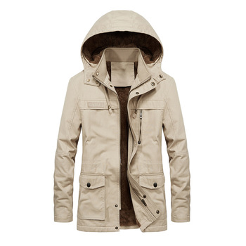 Winter Windbreaker Thick Men's Clothes Overcoat Men's Jackets Coat Female Hats Plus Size Fit Windproof Hombre Casual