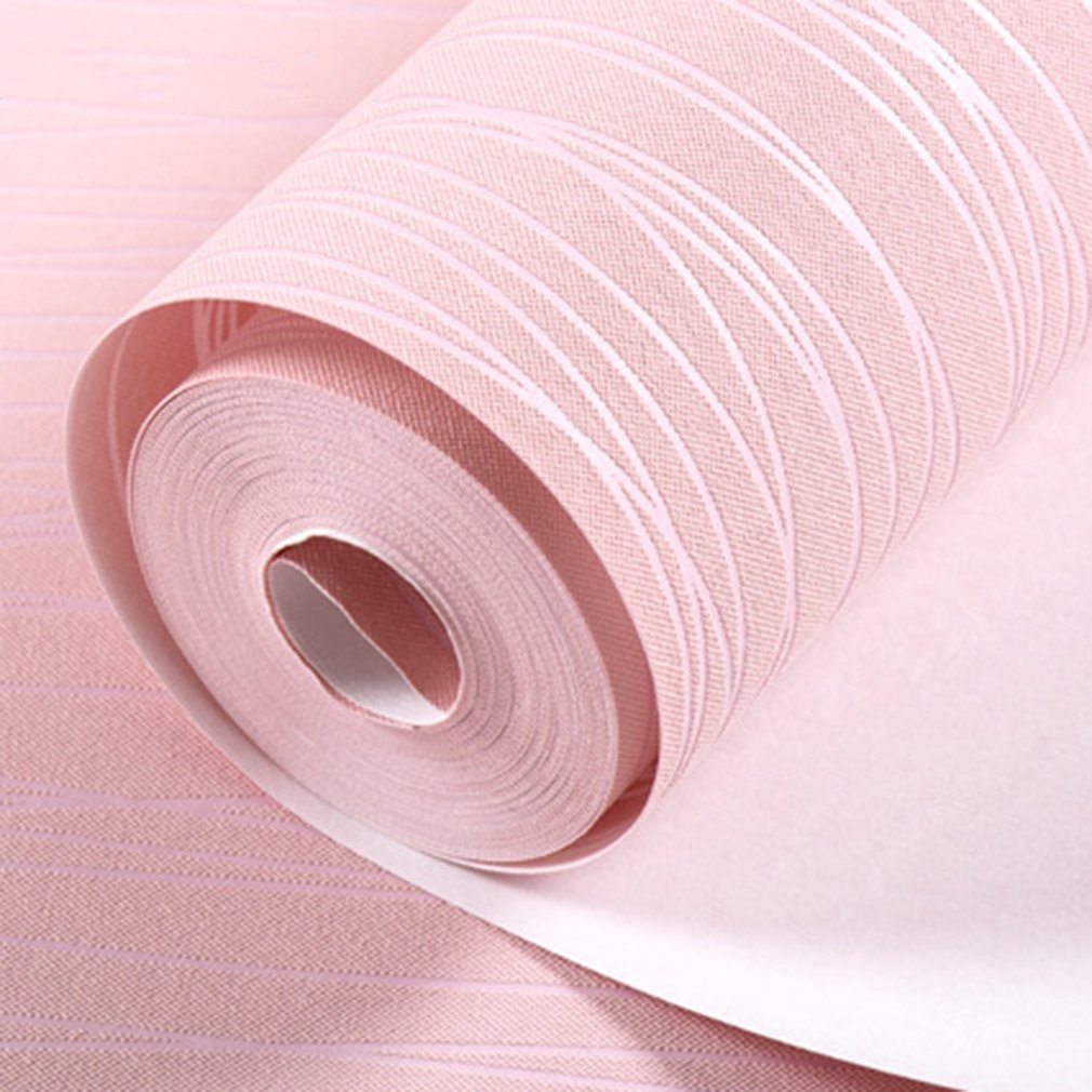 Simple Home Stripe Wallpaper Modern Bedroom Wallcovering Wall Paper For Living Room Decoration Roll Home Sticker Light Pink