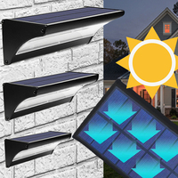 lámparas solares luz solar led para exterior luz solar al aire libre Sensor de movimiento de Radar 24/48/60 LED recargable Solar lámparas de seguridad luz solares exterior jardín para pared, garaje, casa