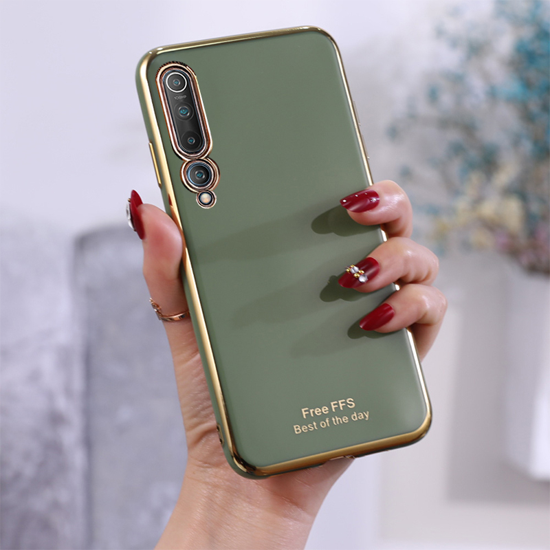 Slim Plating Cases For Xiaomi Mi 9 10 Pro / Lite Youth 5G Case For Xiaomi Mi Note 10 / Note 10 Pro Cover TPU Phone Funda Coque