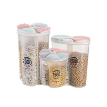 Transparent Plastic Storage Box Dry Dried Food Container Home Creative Umbrella Rack Oval Stand Draining Can Holder 4 Holes Hallway Entryway Office  free Postage