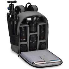 حقيبة ظهر للكاميرا الرقمية ذات العدسة الأحادية العاكسة SLR بدون مرآة حقيبة صور خارجية مضادة للماء مقاومة للخدش لكانون نيكون سوني باناسونيك فوجي فيلم أوليمبوس