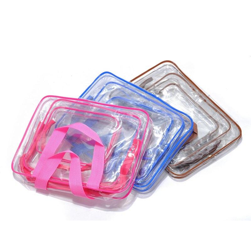 Cosmetic Bag Transparent PVC Waterproof Handbag Wash Bags Make Up Bag Beauty Supplies -OPK