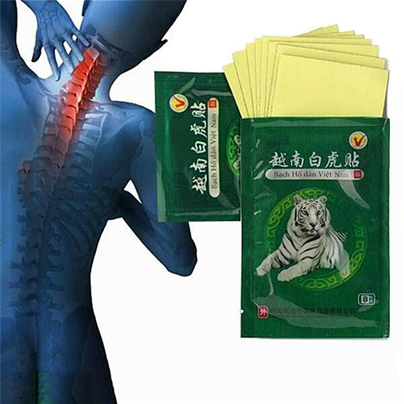 40pcs/5pack Health Care Meridians Plaster Lumbar Pain Relief Back/Neck Muscular Pain relieving Vietnam White Tiger Balm Patch