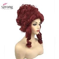 StrongBeauty Marie Antoinette принцесса средней длины кудрявый волос Косплей парики красный