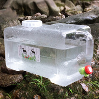 12l balde de carro pc engrossado torneira auto-condução carro portátil recipiente de água ya88