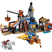 QWZ War of Glory Castle Knights blacksmith's shop Legoes Building Blocks Educational Bricks Toy Boy Gift Boys цена