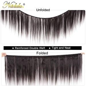 Image 2 - Nadula Hair mechones de cabello lacio indio de 8 30 pulgadas, mechones de cabello humano Remy, máquina de mechones de postizo de doble trama, 3/4 mechones