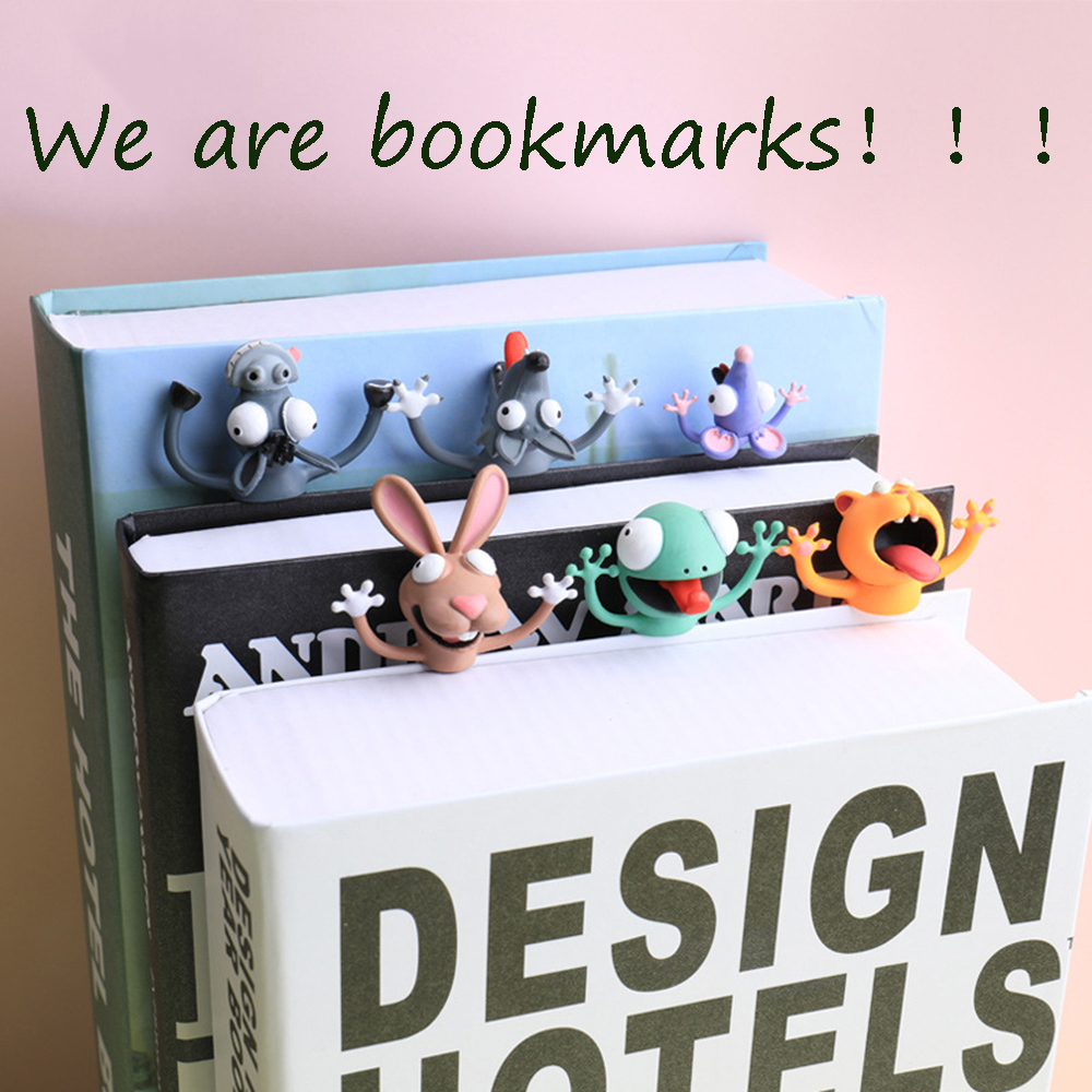 3D Cartoon Animal Bookmarks Original Cute Cat PVC Material Funny Student School Stationery Creative For Children Gift Bookmark