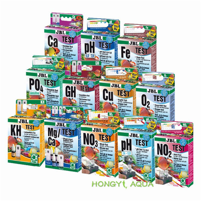 JBL Water Test Kit PH NO2 NO3 Ca Mg Cu O2 CO2 PO4 NH4 GH KH Fe Aquarium Fresh Maring Water Fish Tank