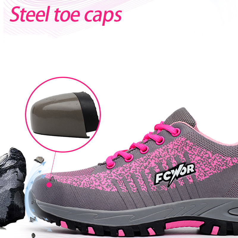 Image 3 - Steel Toe Work Women Work Boots Mesh Women Lightweight Breathable Outdoor Anti smashing Anti Piercing Construction Safety ShoesAnkle Boots   -