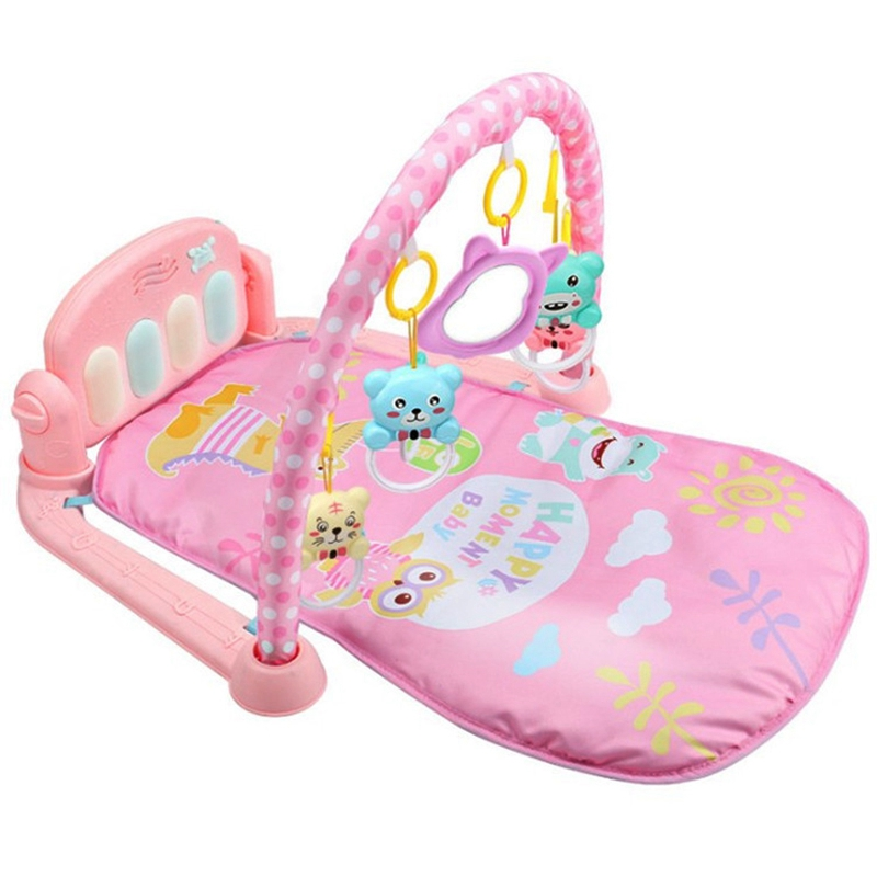 Baby Play Mat Baby Activity Gym Children's Play Mat 0-12 Months Developing Carpet Soft Rattles Musical Toys Activity Rug