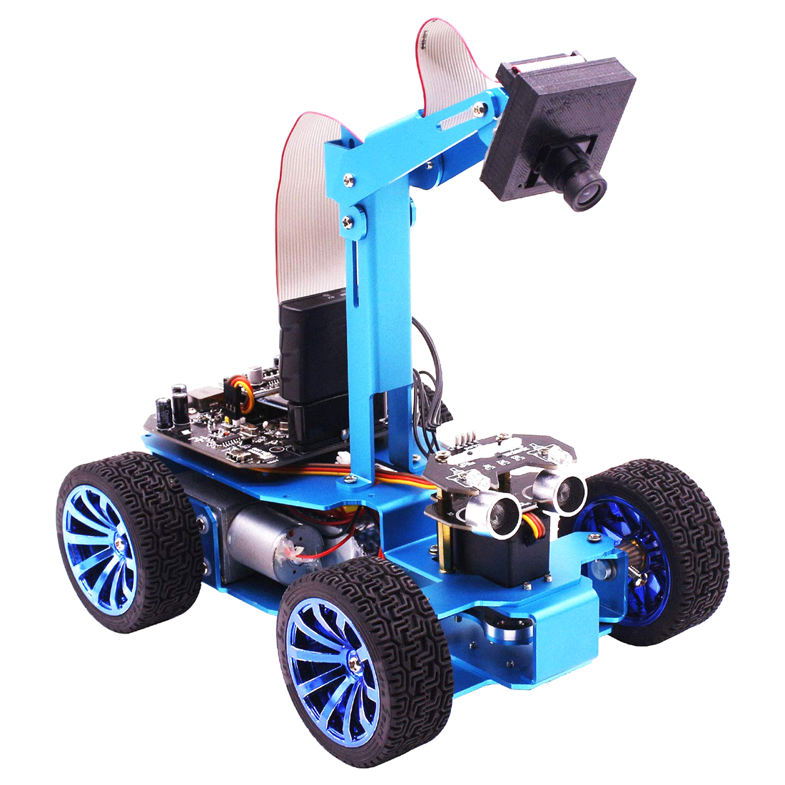 STM32 Visual Robot OV7670 Camera Tracking OLED Screen Independent Steering Robotics High-Power Motor Creative Gift 1